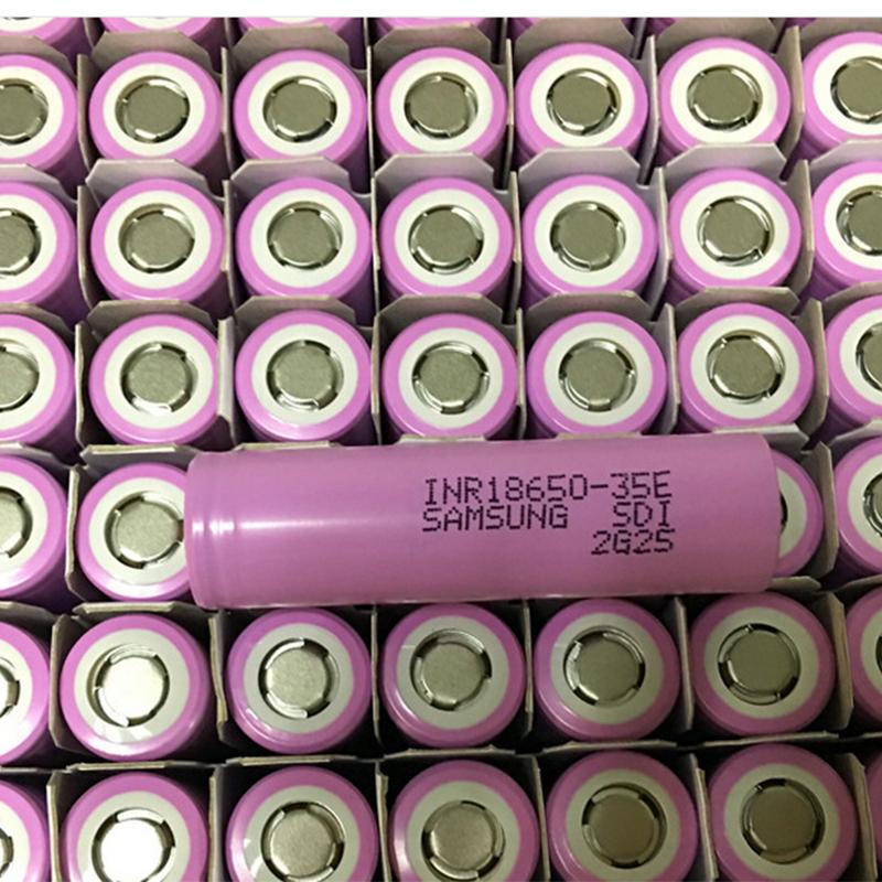 A granel SDI 18650 35e de litio batería li-ion 3500mah 3,7 v inr18650-35e para samsung SDI