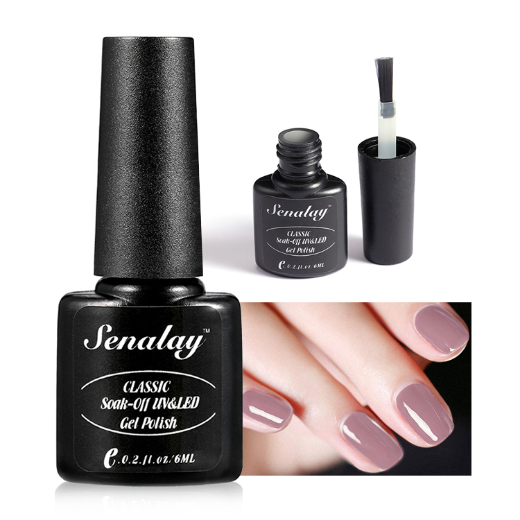 SENALAY oem private label nail art 6ml 58 colors nail <strong>gel</strong> long lasting soak off uv/led pure color <strong>gel</strong> polish for wholesale