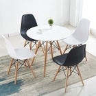 Table Round Dining Round Dining Table Coffee Table Modern Round Center Table Modern Living Room Furniture Round MDF Wooden Dining Table Chair Set