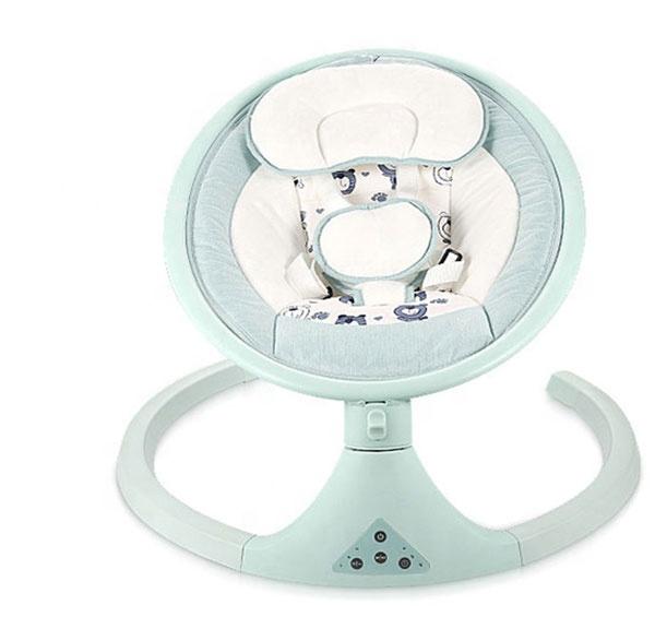 रिमोट कंट्रोल बच्चे बिजली स्विंग के साथ ब्लू टूथ/यूएसबी स्वचालित शिशु सीट बच्चे झूले हिल घुमाव