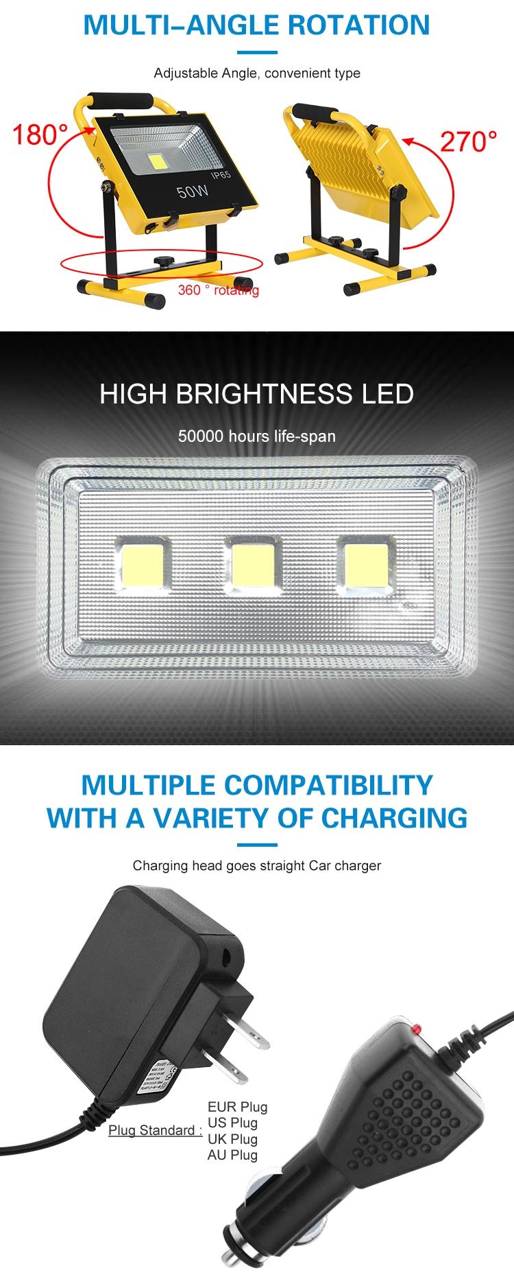 Постоянный ток, 5В, заряжаемый источник питания twin штатив-Трипод стойка 10 Вт светодиодный свет работы и сайт фонари рабочее освещение