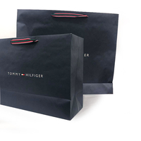 Black luxury branded Beautiful gift paper bag with logo print