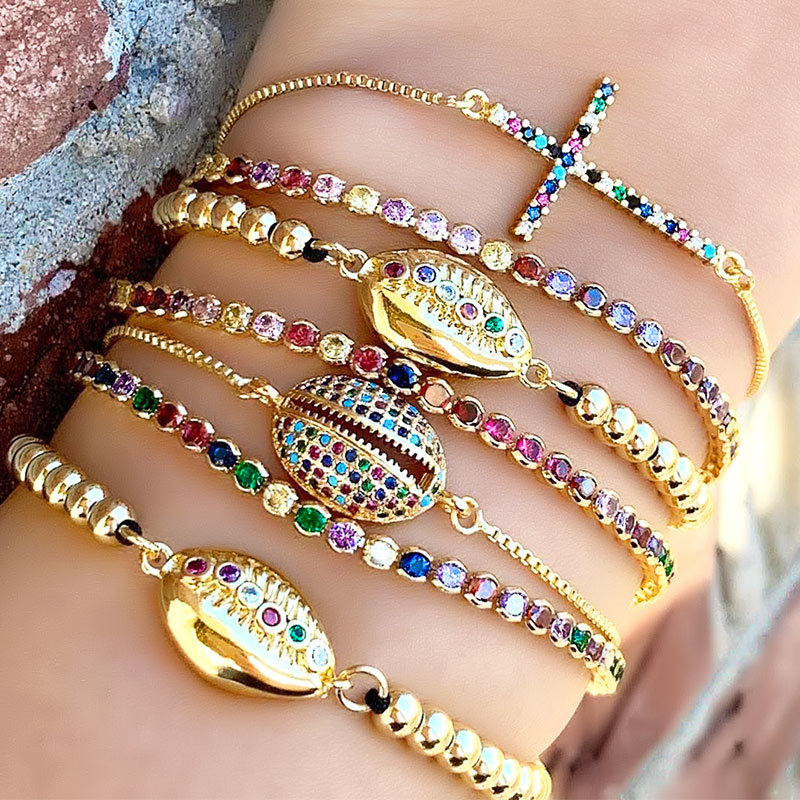 Barlaycs 2019 New Fashion Charm Adjustable Bling Zircon Crystal Chain Bracelets Bangles for Women Jewelry <strong>Accessories</strong>