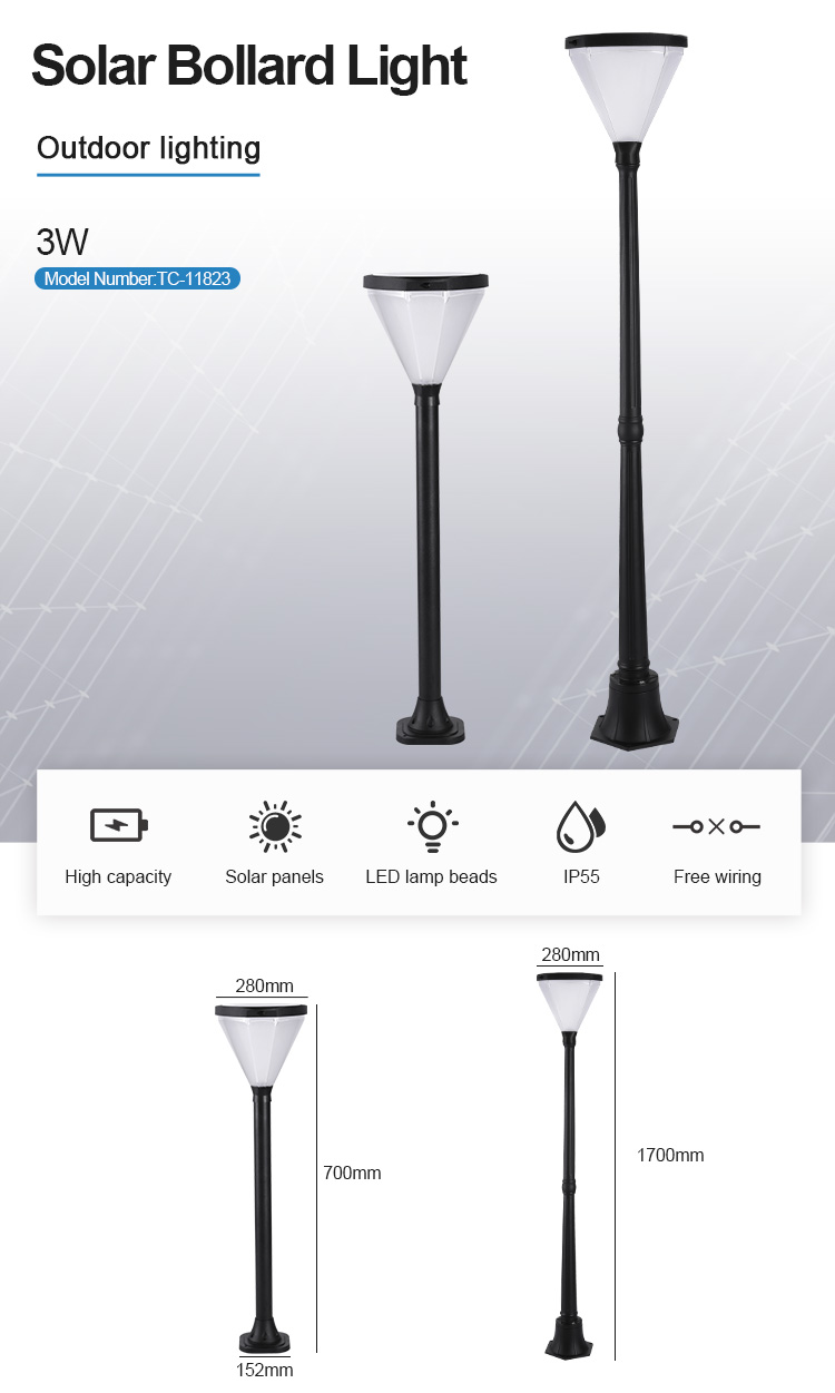 Modern Designs IP65 Waterproof Aluminum Led Bollard Lamp 5W Garden Outdoor Light