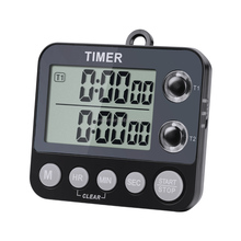 Digitale Dual Keuken <span class=keywords><strong>Timer</strong></span>, Groot Display 100 Uur Dual Count Up Down <span class=keywords><strong>Timer</strong></span> Dual Channel <span class=keywords><strong>Timer</strong></span> Led Licht TM-009