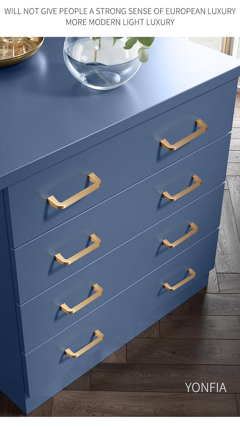 FidgetKute Wardrobe Cabinet Pull Handle Cupboard Dresser Drawer Zinc Alloy Pull Handle 2078-64 Gold+Silver
