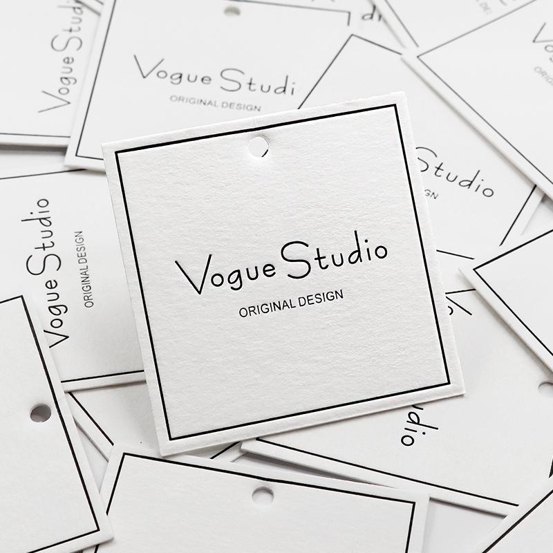 Custom swing hang tags designs clothing garment t logo tag
