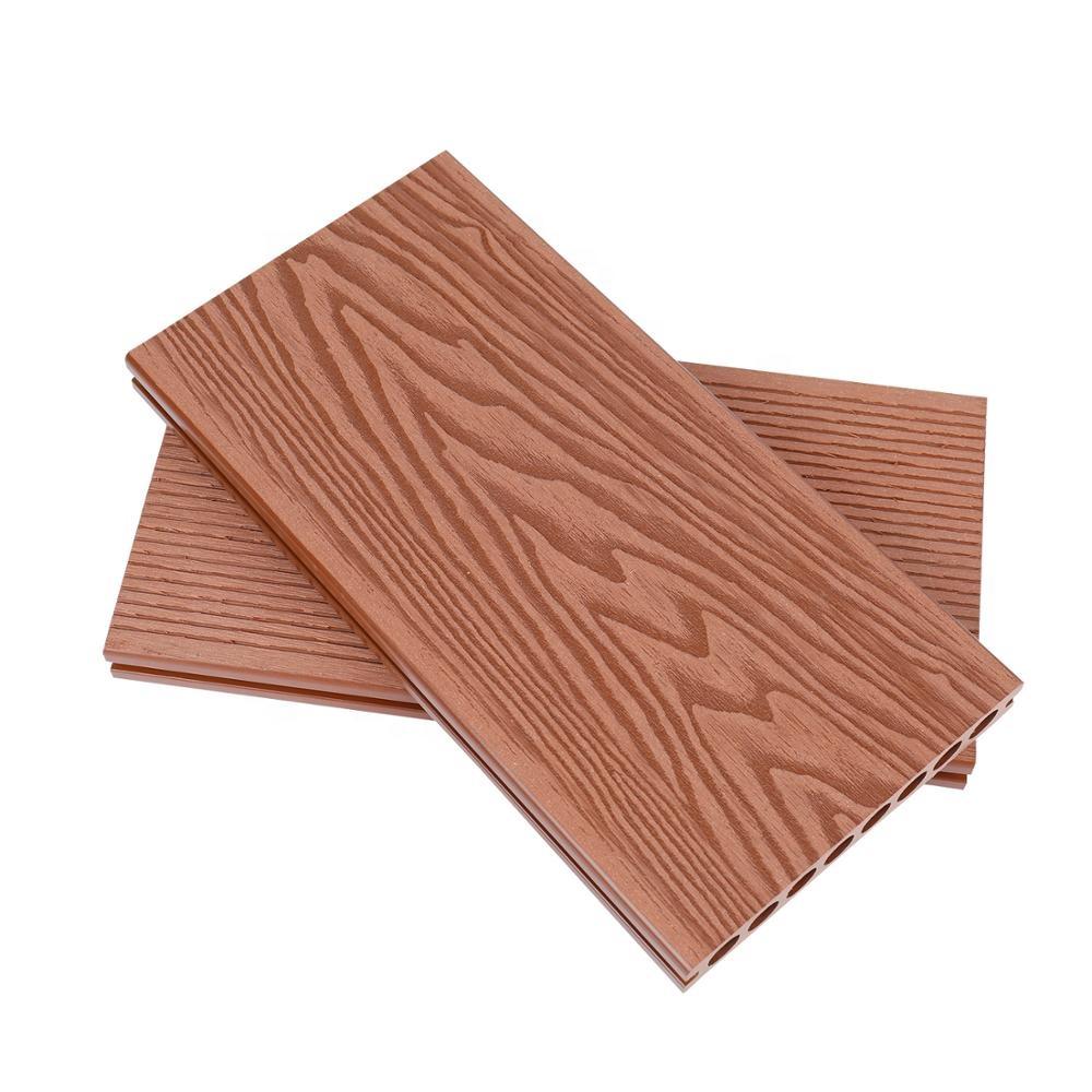 Elegante 3D goffratura struttura di legno WPC wood plastic composite deck esterno