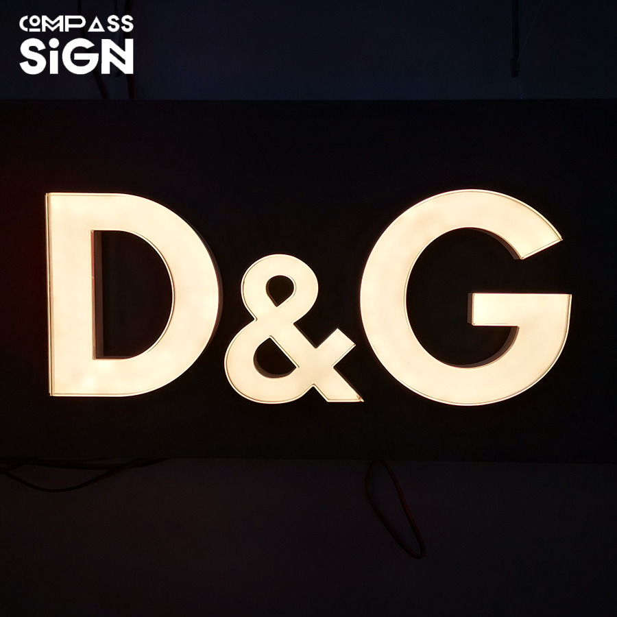 front light advertising 3d plastic acrylic letters