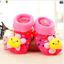 Прямая поставка, носки для малышей нескользящие носки-тапочки с резиновой подошвой для детей ясельного возраста, осень-весна, модные милые ...(China)