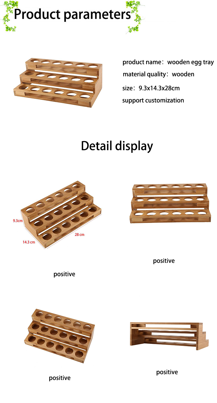 Bamboo 18 Holes Essential Oil Display Wooden Stand Rack Perfume Nail Polish Storage Tray Aromatherapy Organizer