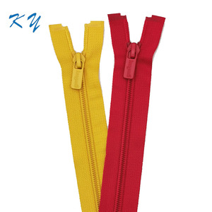 3#5# cheap price factory whole sale open-end nylon zipper with plastic slider