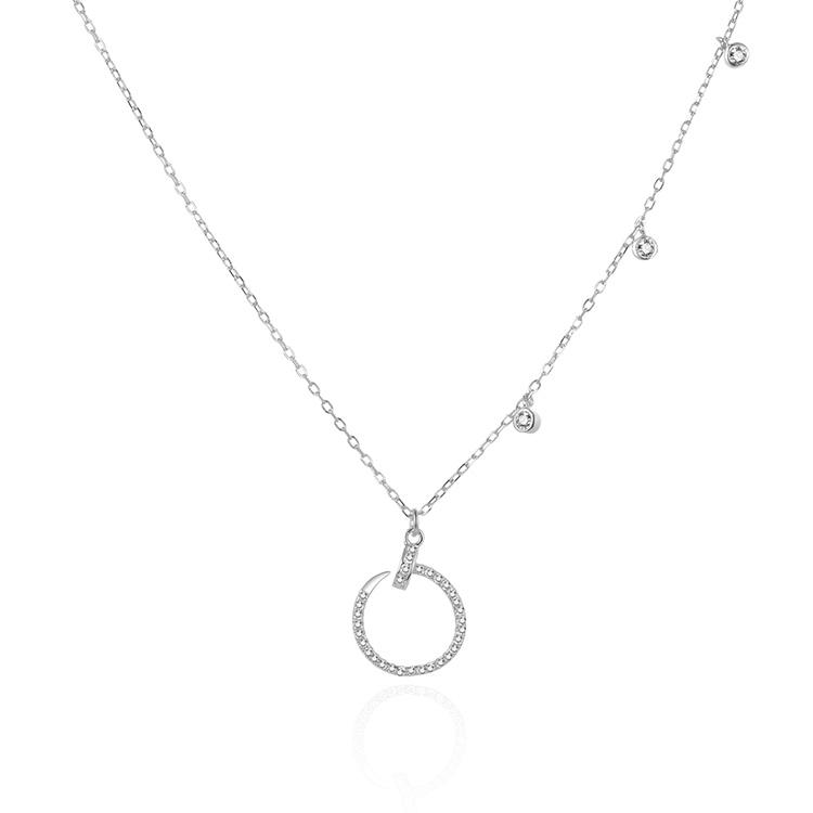 POLIVA Rhodium Überzogene 925 Silber Feuerbestattung Halskette Diamant Anhänger Halskette Schmuck Halskette Set