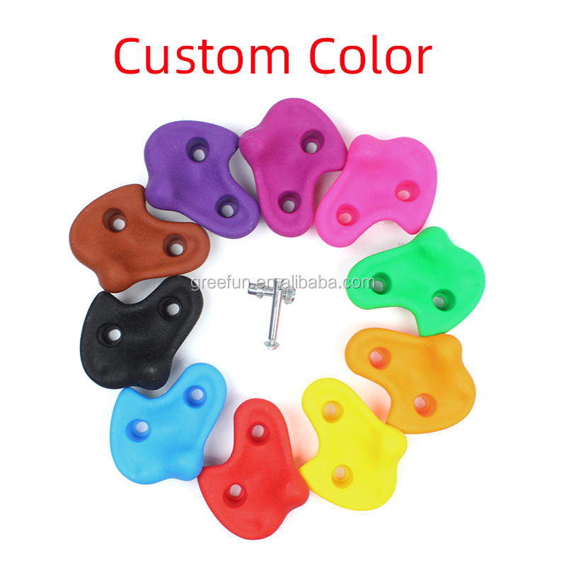 Rock Climbing Wall Holds Climbing Ninja Obstacle Course Outdoor Thickened Grip Rock Stone Climbing Wall Stones for Children