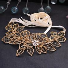 TRiXY SH256-G пояс с золотыми бриллиантами, стразы, Блестящие ремни для платьев, свадебный пояс цвета шампанского, золотистый женский пояс с золот...(Китай)