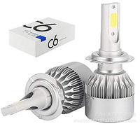 Hot Sale C6 H4 LED Headlight Bulbs LED H7 H1 H3 H11 9005 9006 9004 9007 H13 12V 8000LM 72W COB super bright high power