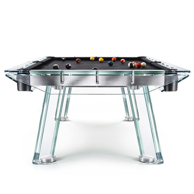 High quality 8ft modern style custom glass pool table