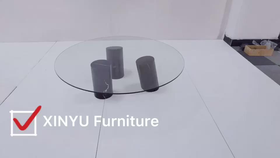 Modern sıcak satış klasik oturma odası mobilya cam üst kahve merkezi masa
