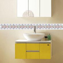 Обои 3D Трехмерная Цветочная Геометрическая граница обоев стены рулон стерео наклейки на стену Декор для гостиной Повседневный дом(Китай)