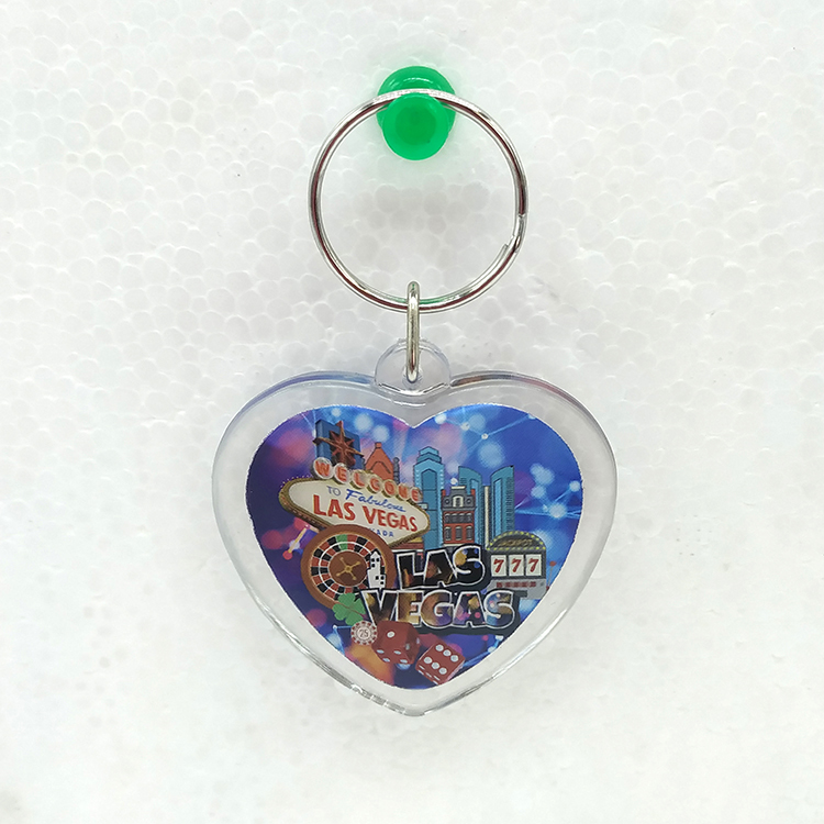 China factory heart shape key chain keyring with name