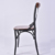Wooden seat cross back X shape backrest dining chair