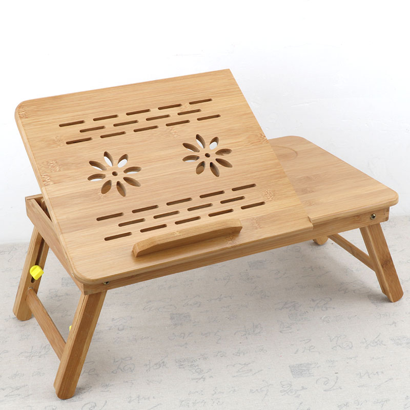 Custom logo S/M/L size eco friendly portable <strong>folding</strong> bamboo wooden <strong>laptop</strong> <strong>table</strong> for bed
