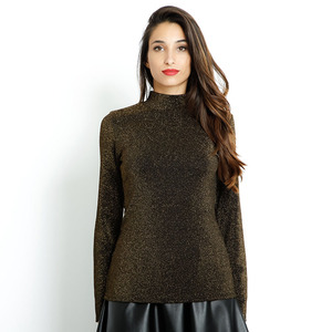 Wholesale women long sleeve blouse & top with high neck for ladies