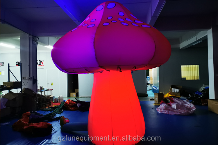 Factory Customized Design Indoor And Outdoor LED Lighting Air Decoration Large Inflatable Mushroom