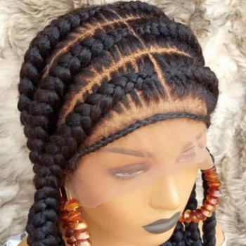 Human hair root wig synthetic Cornrow braided wig human hair wigs braided synthetic