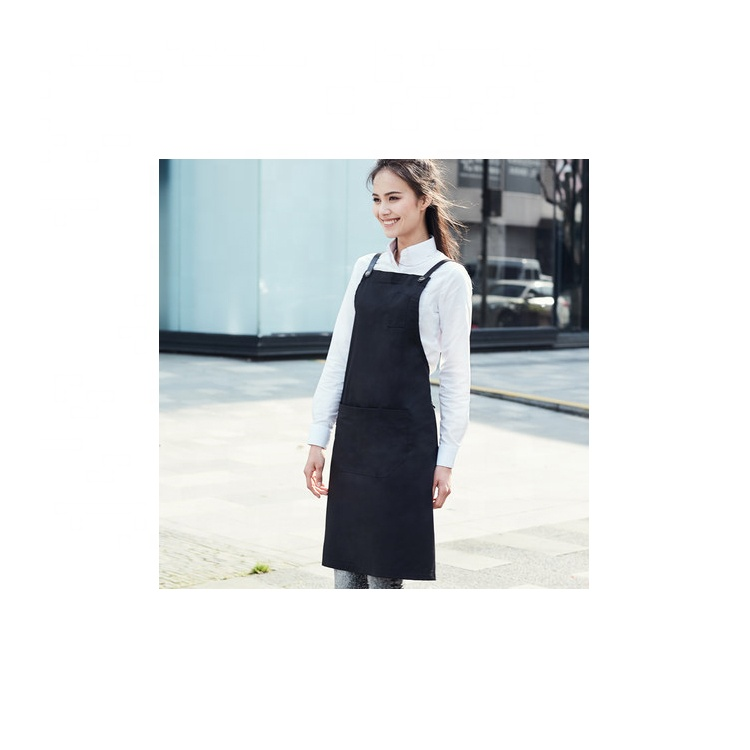 Fashion style barista apron hot sale lady kitchen cooking apron for women