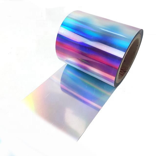 Multi-color Holographic PET Spangle Film Rolls Sequin Reversible Reel