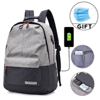 China supplier custom color laptop bag anti theft water proof back pack college usb laptop backpack