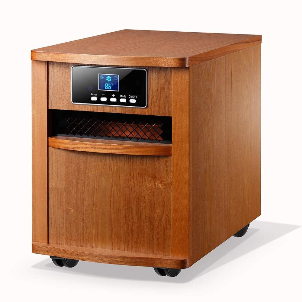 IWH-01 movable 1500w electric <strong>heater</strong> portable digital <strong>infrared</strong> wooden cabinet <strong>heater</strong> with remote control