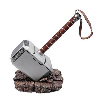 Metal Marvel Props Mjolnir Thor Hammer With Base Buy Thor