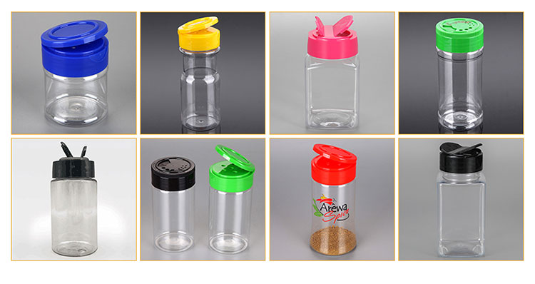 Wholesale Salt Pepper Bottle, PET Clear Salt And Pepper Plastic Bottle 200ml Plastic Spice Shaker Bottle/