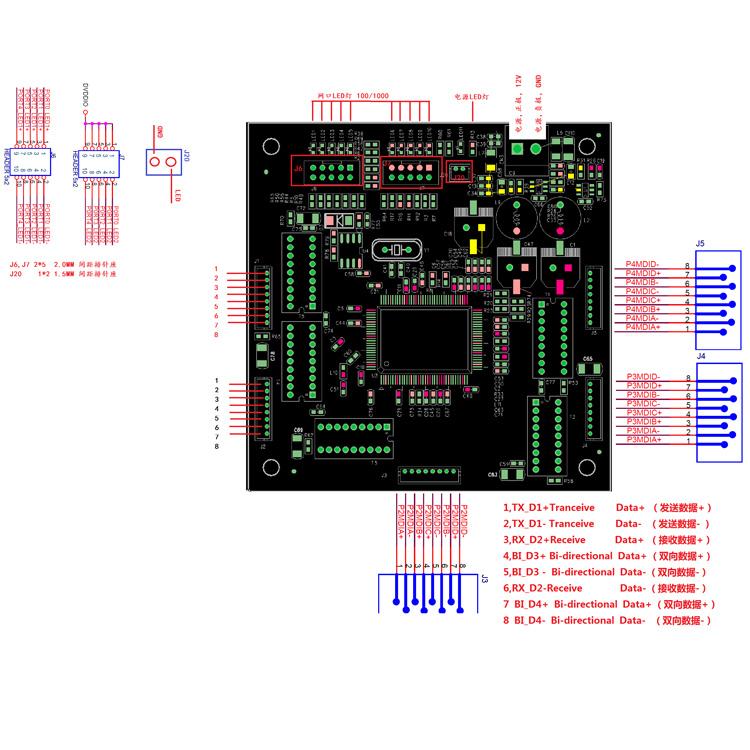 Commercio all'ingrosso di 5 porte gigabit switch poe modulo pcba