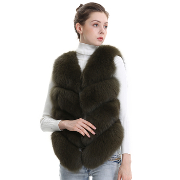 Top Fashion Winter Real Fox Fur Vest Women Fur Gilet Genuine Fur Vest