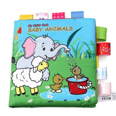 Lovely Gift -  Cute Animals Early Education Cloth Book with Sound Paper for 0-2 Years Old Baby
