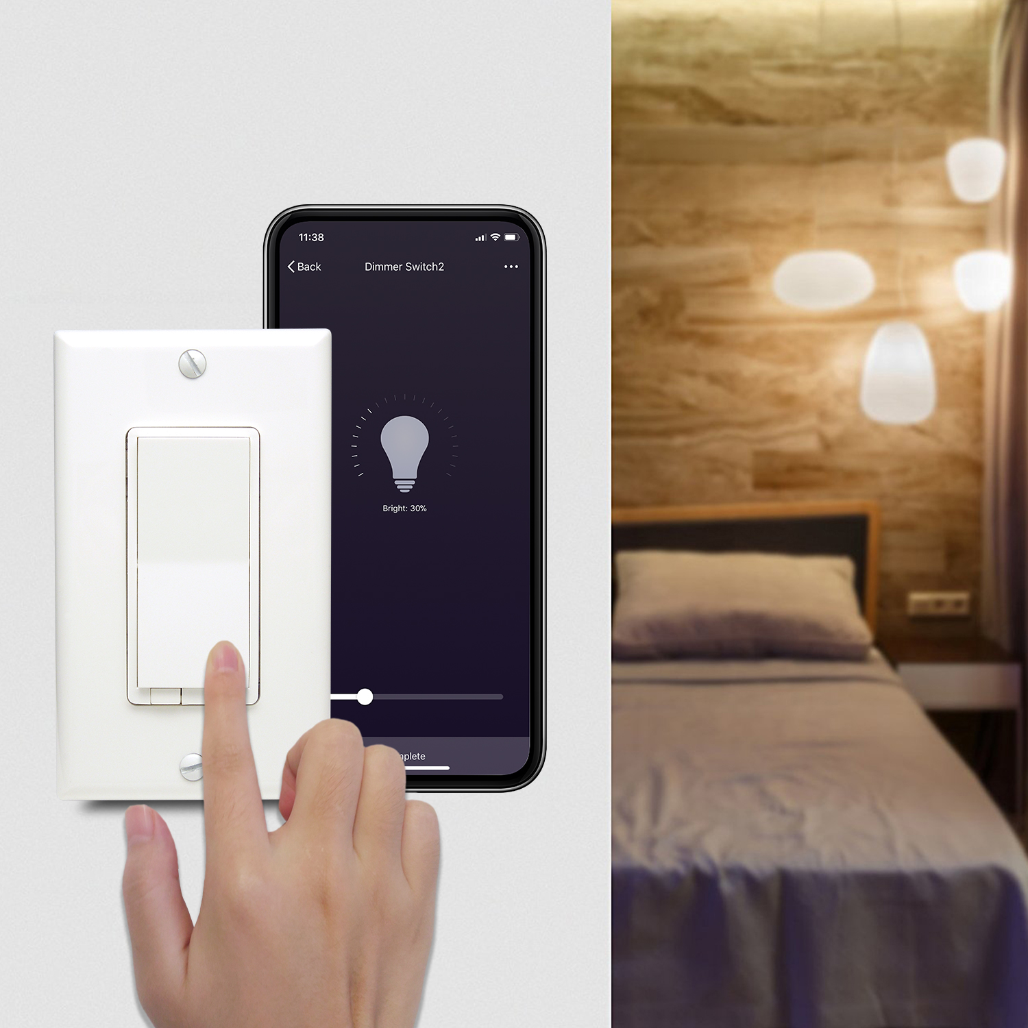 Smart Home WiFi Remote Controlled Dimmer Licht Smart Switch
