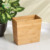 Small Square Decorative Stylish Trash Can Bamboo Wood Waste Bin For Any Room
