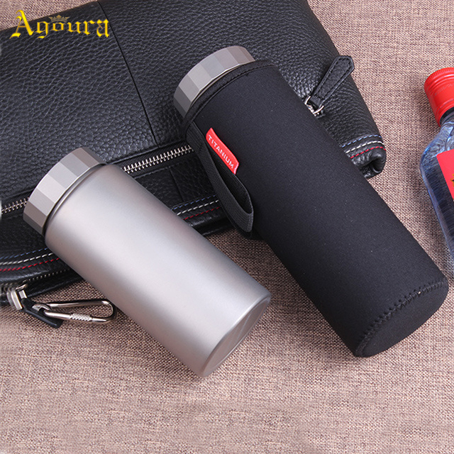 Hot sale wholesale accept custom Pure Titanium vacuum water bottle high quality Eco-friendly Cycling outdoor sport water bottle