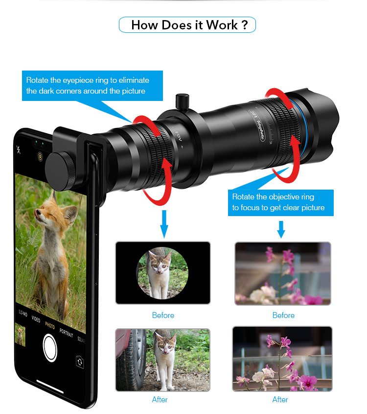 APEXEL 2019 NEW 28X Mobile Phone Telescope Astronomical Professional Smartphone Camera Eyepiece Telescope Lens for Kids