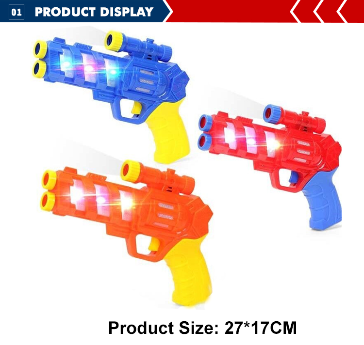 high quality plastic light sound B/O toys gun for kids