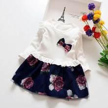 Платье для девочек, модное кружевное платье с длинными рукавами для маленьких девочек, детское платье на свадьбу и вечеринку, От 3 до 7 лет, 2020(Китай)