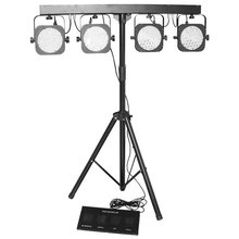 Heavy Duty Suporte de Luz Kit de Luz 4 pcs Par Plana LED Par 64 LED Par Bar