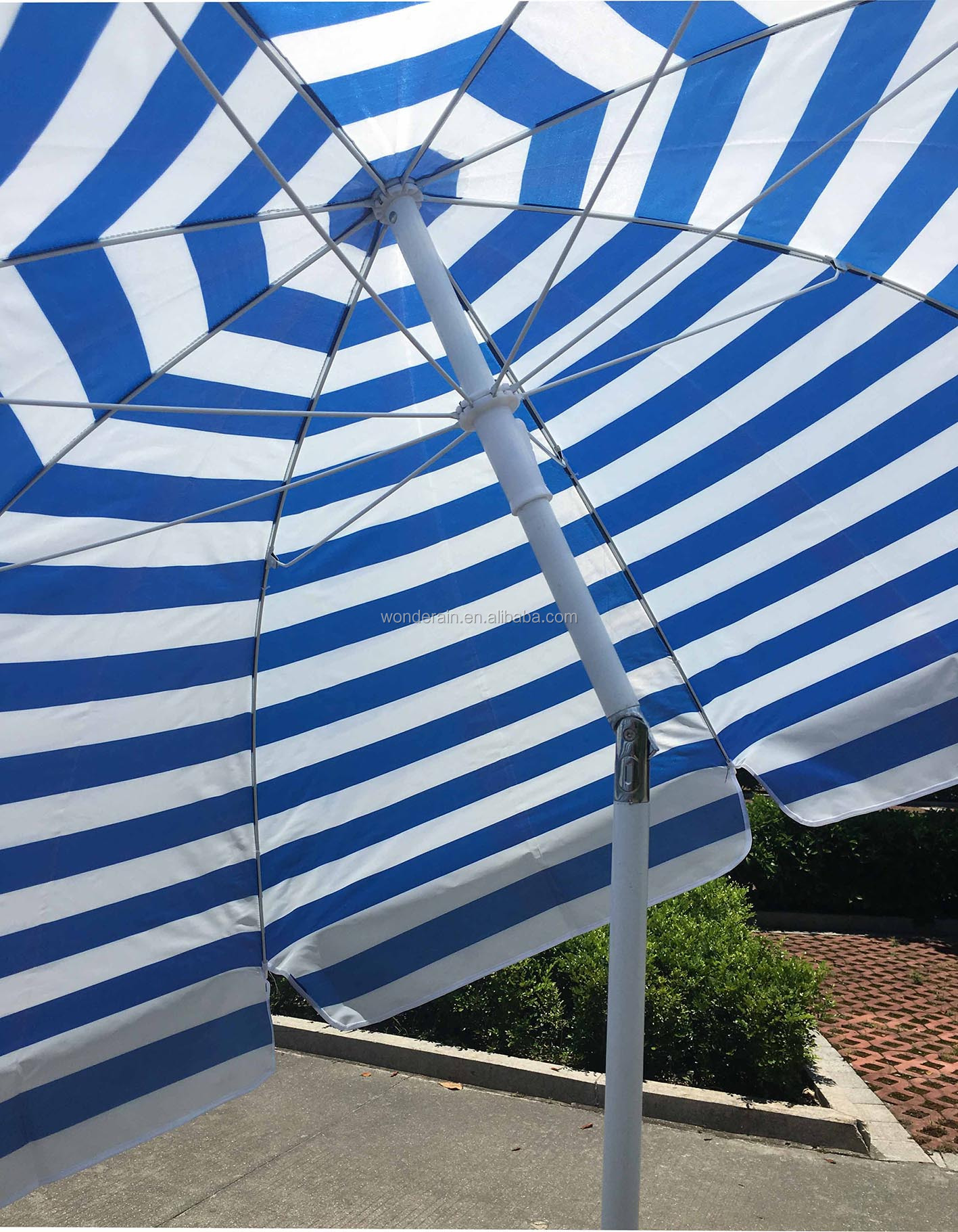 40inch sunshade and rainshade 180cm stripes  beach umbrella with tilt