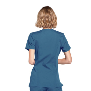 Womens Short Sleeve Small V Neck Surgical Or Medical Scrub Clothes Sets Uniforms Design nurse white uniform