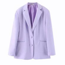 [DEAT] Женский однотонный блейзер для досуга с карманами, новая свободная куртка с отворотом и длинным рукавом, модная женская демисезонная ку...(Китай)