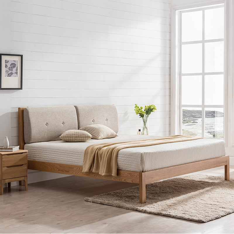 product-factory direct price good quality simple new design solid wood bed home furniture-BoomDear W