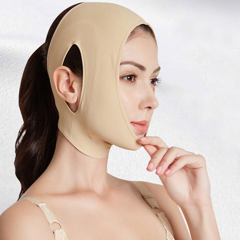 V Shape Face Lifting Mask Double Chin Reduce Bandage V Line Lift Up Slimming Chin Cheek Facial Portable Face Lifting Belt